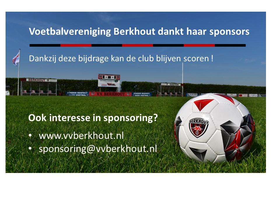 Dank aan onze trouwe sponsors