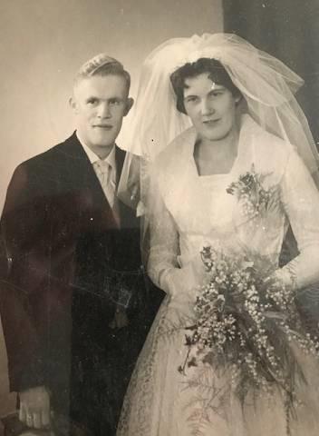 Ab en Wil Dolfing 60 jaar getrouwd